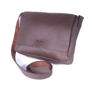 sac avec rabat en cuir